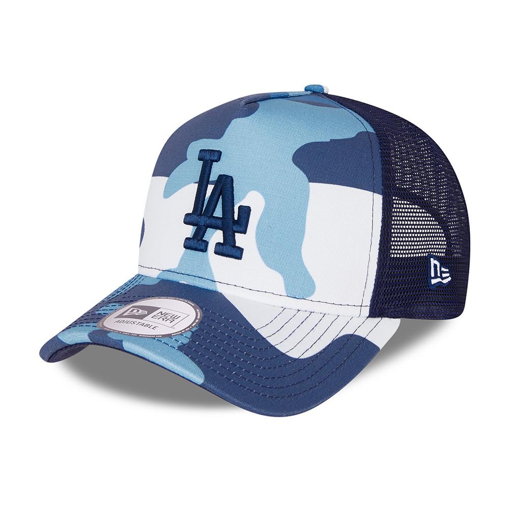 Casquette LA Dodgers Camo Pack A-Frame Trucker Bleu marine