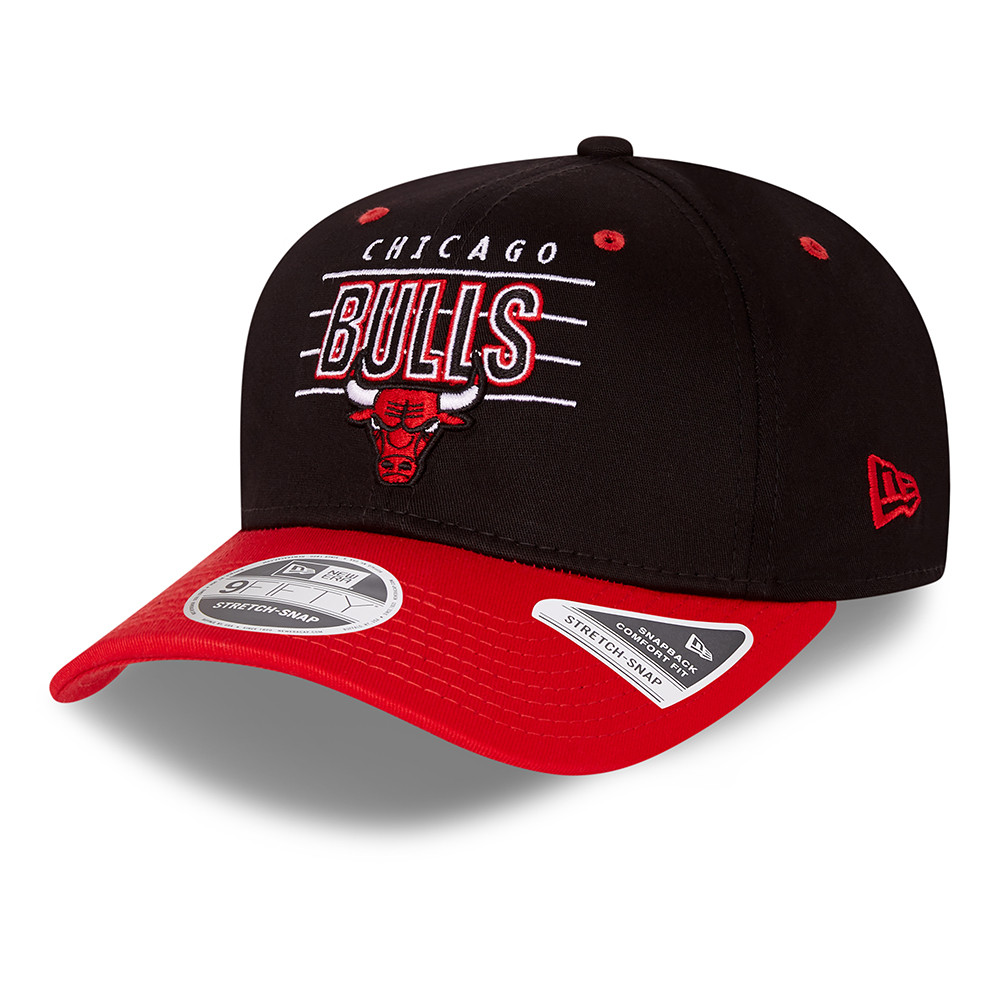 Chicago Bulls NBA Team Black 9FIFTY Stretch Snap Cap