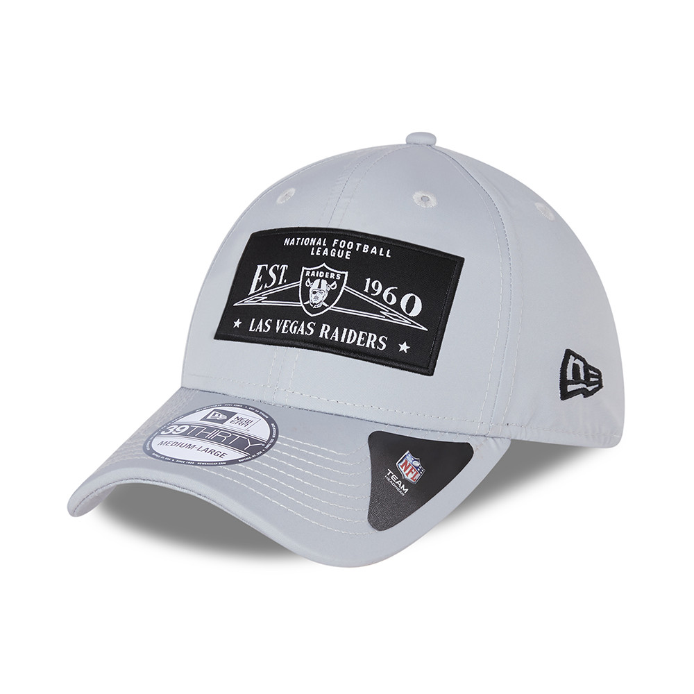 Casquette 39THIRTY Las Vegas Raiders Team Patch, grise