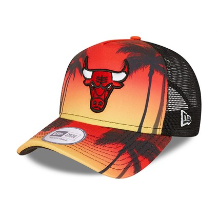 Chicago Bulls Summer City Black Trucker Cap