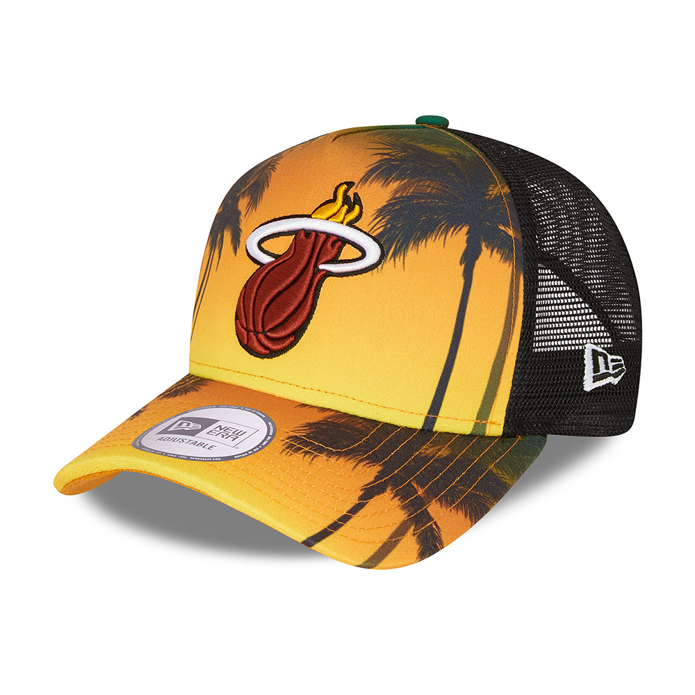 Casquette Trucker Miami Heat Summer City A-Frame Noir