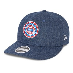 Cappellino 9FIFTY Flannel Patch con cinturino in pelle New York Giants blu