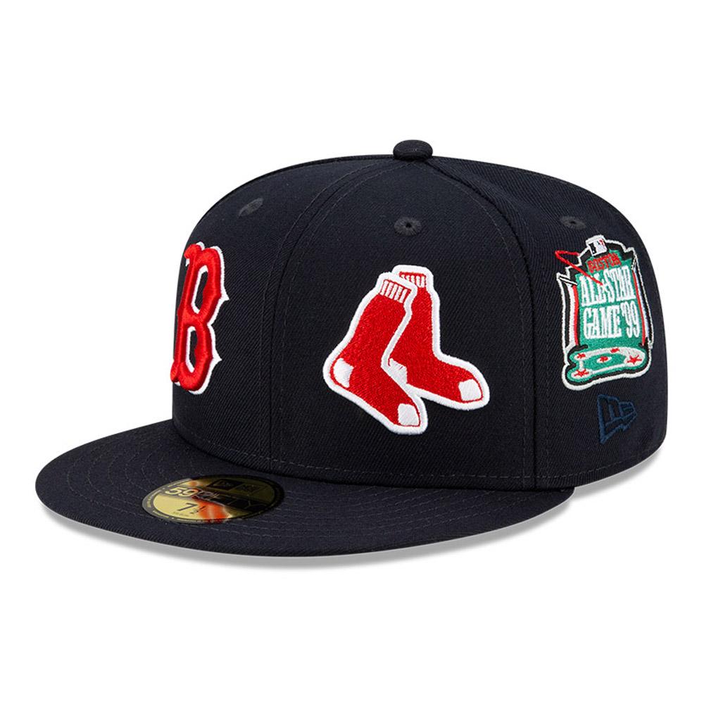 Casquette59FIFTYMLBTeam PrideBoston Red Sox, bleu marine