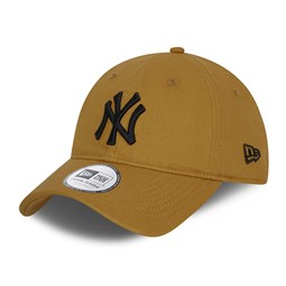 Cappellino Casual Classic con cinturino posteriore in pelle New York Yankees beige