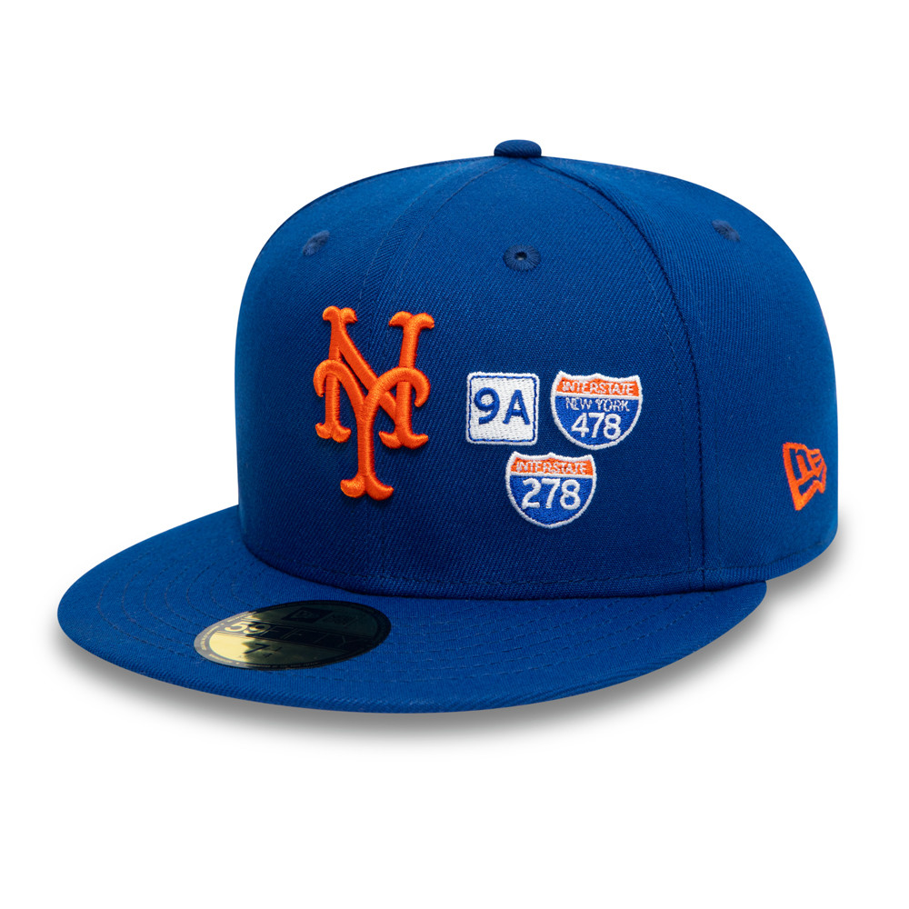 Cappellino 59FIFTY MLB Interstate dei New York Mets blu