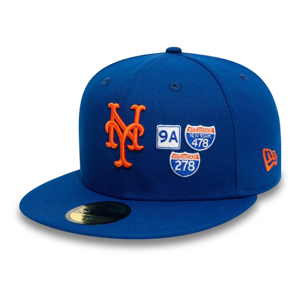 Casquette 59FIFTY MLB Interstate New York Mets, bleu
