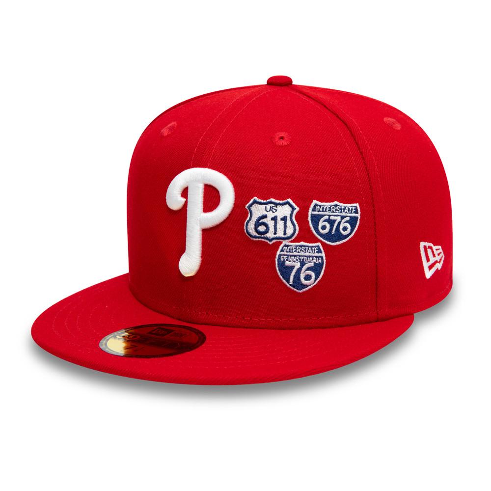 Gorra Philadelphia Phillies MLB Interstate 59FIFTY, rojo