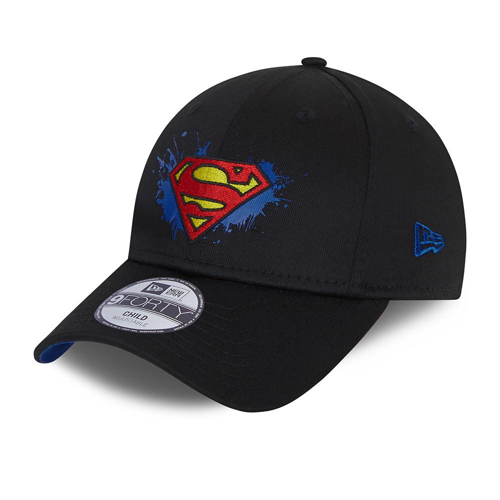 Casquette 9FORTY Splat Superman pour enfant, noire