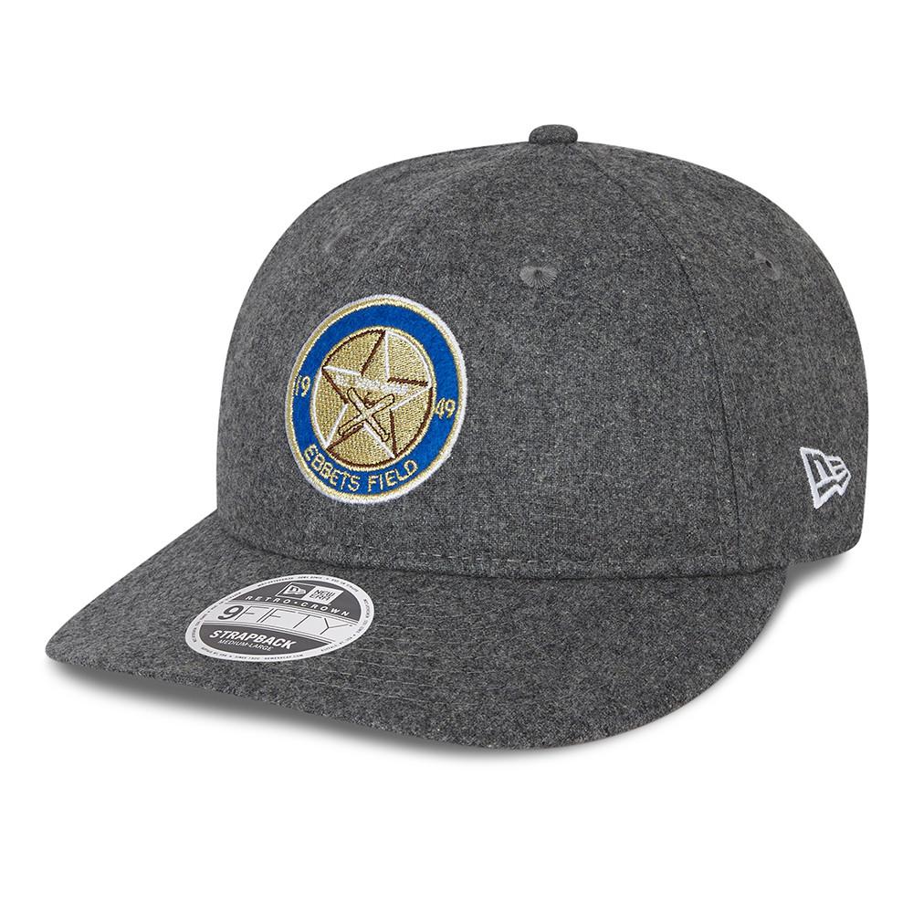 "Femmina | ""Brooklyn Dodgers Flannel Patch Grey 9FIFTY Leather Strapback Cap"""