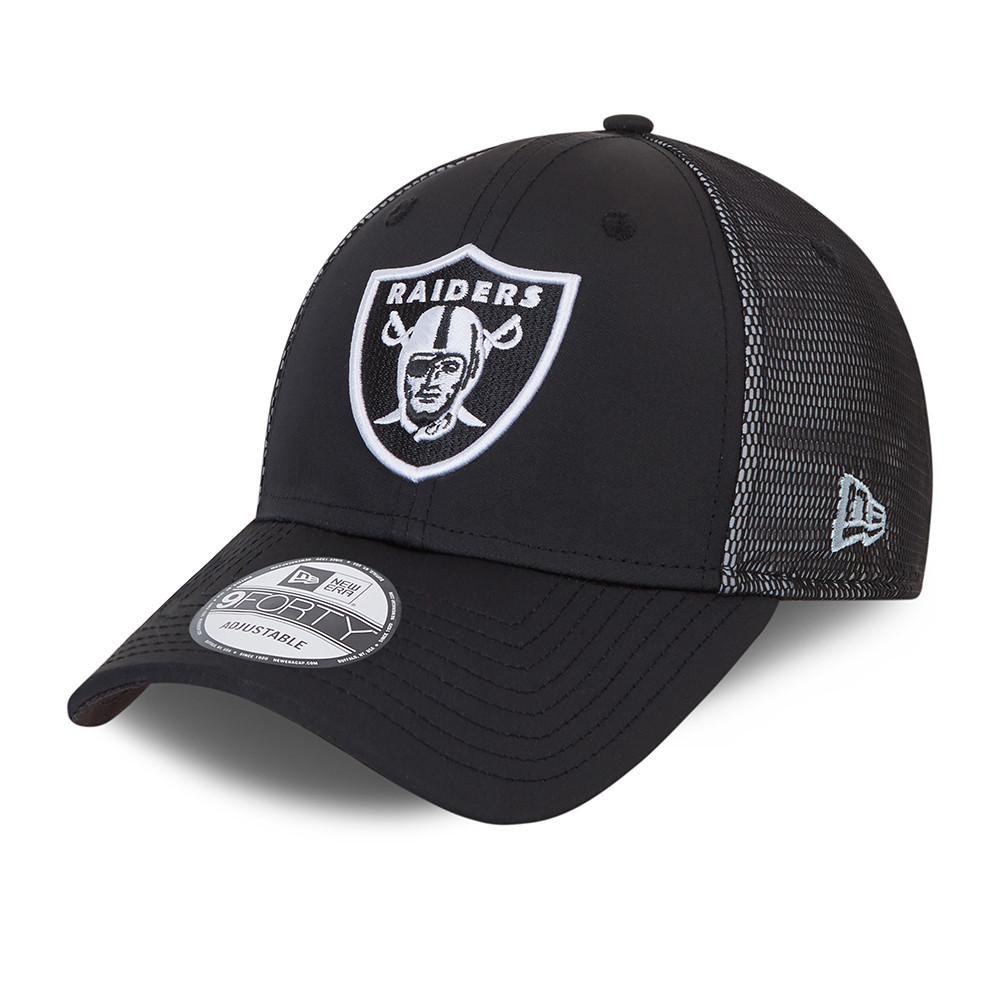 9FORTY – Las Vegas Raiders – Kappe aus Netzstoff in Schwarz