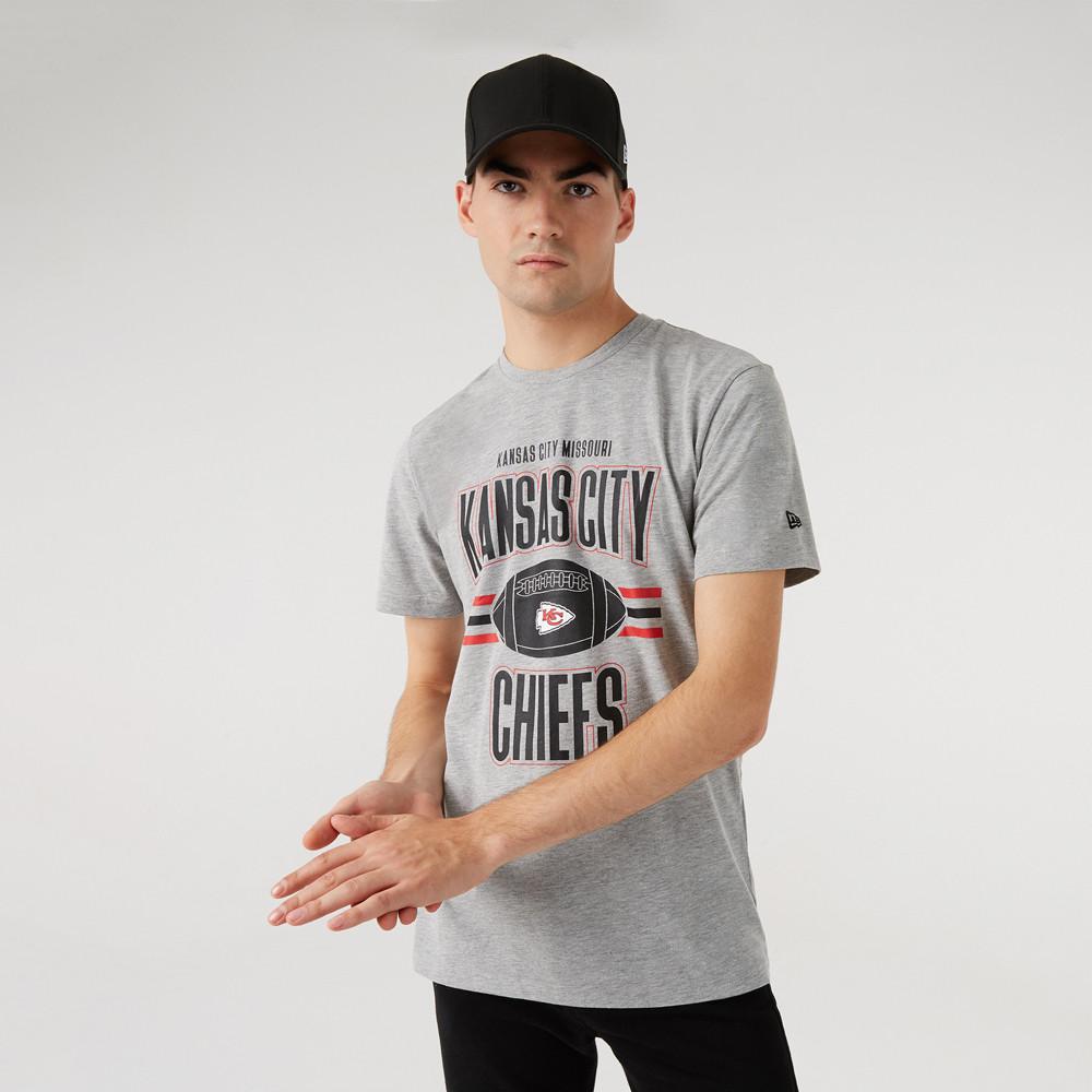 T-Shirt Kansas City Chiefs Football grigia