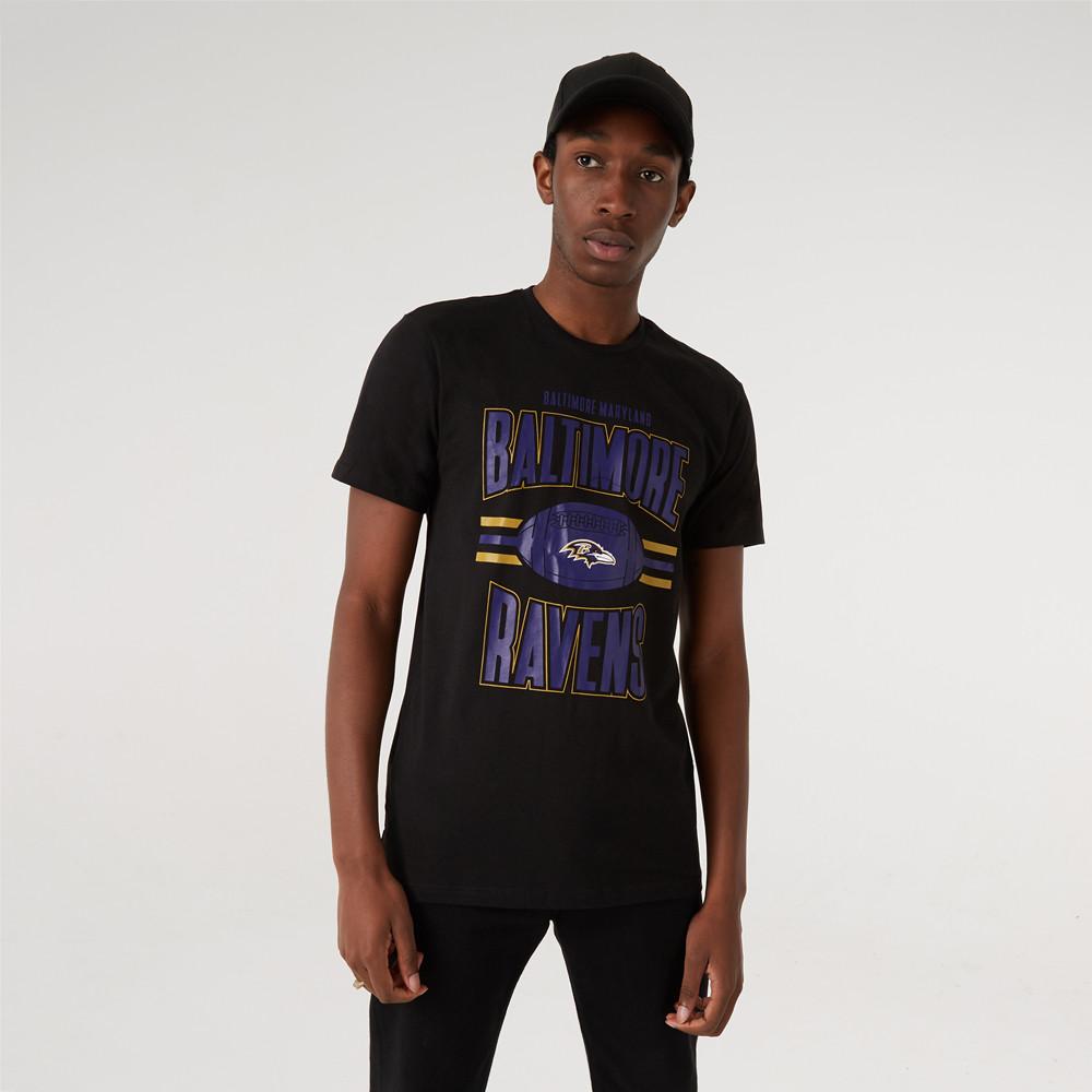 T-shirt Baltimore Ravens Football Noir