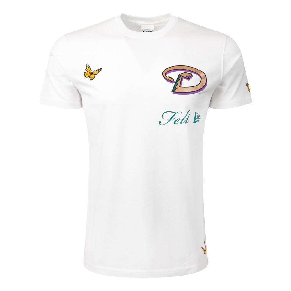 T-shirt MLB Felt Arizona Diamondbacks, blanc