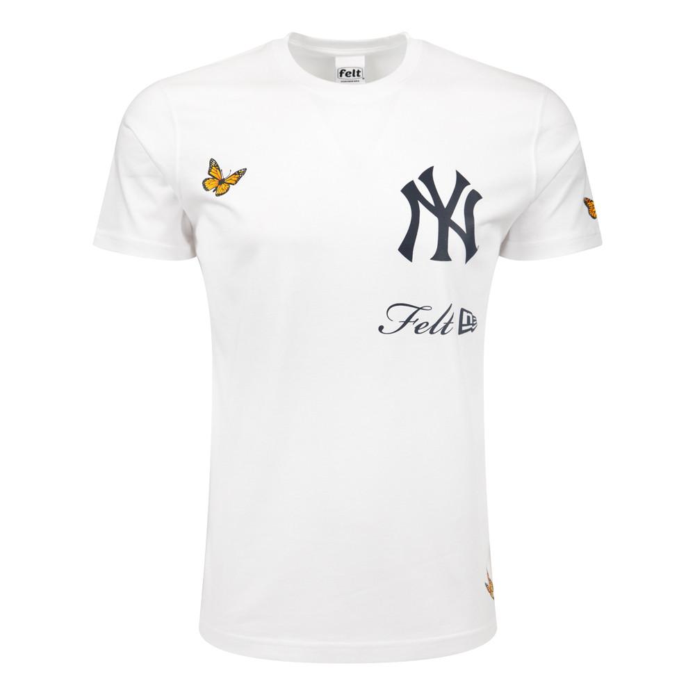 T-shirt New York Yankees MLB Felt Blanc