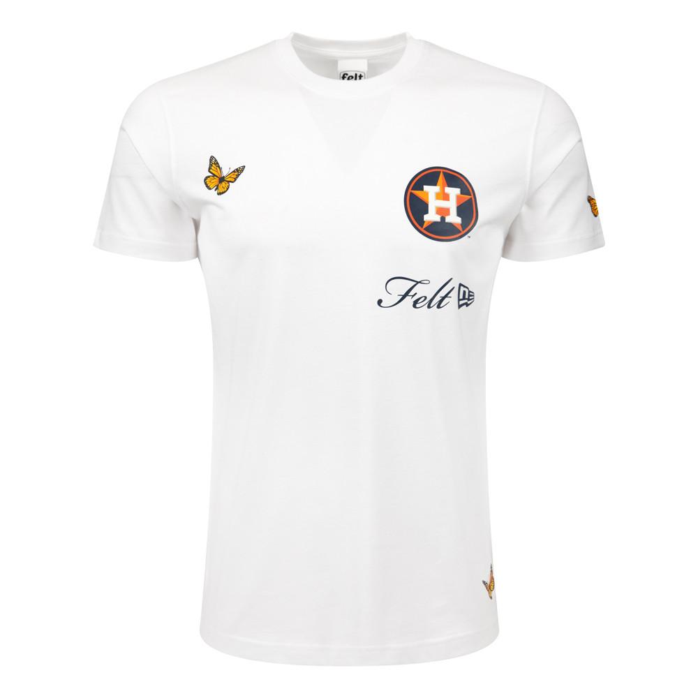 T-shirt Houston Astros MLB Felt Blanc