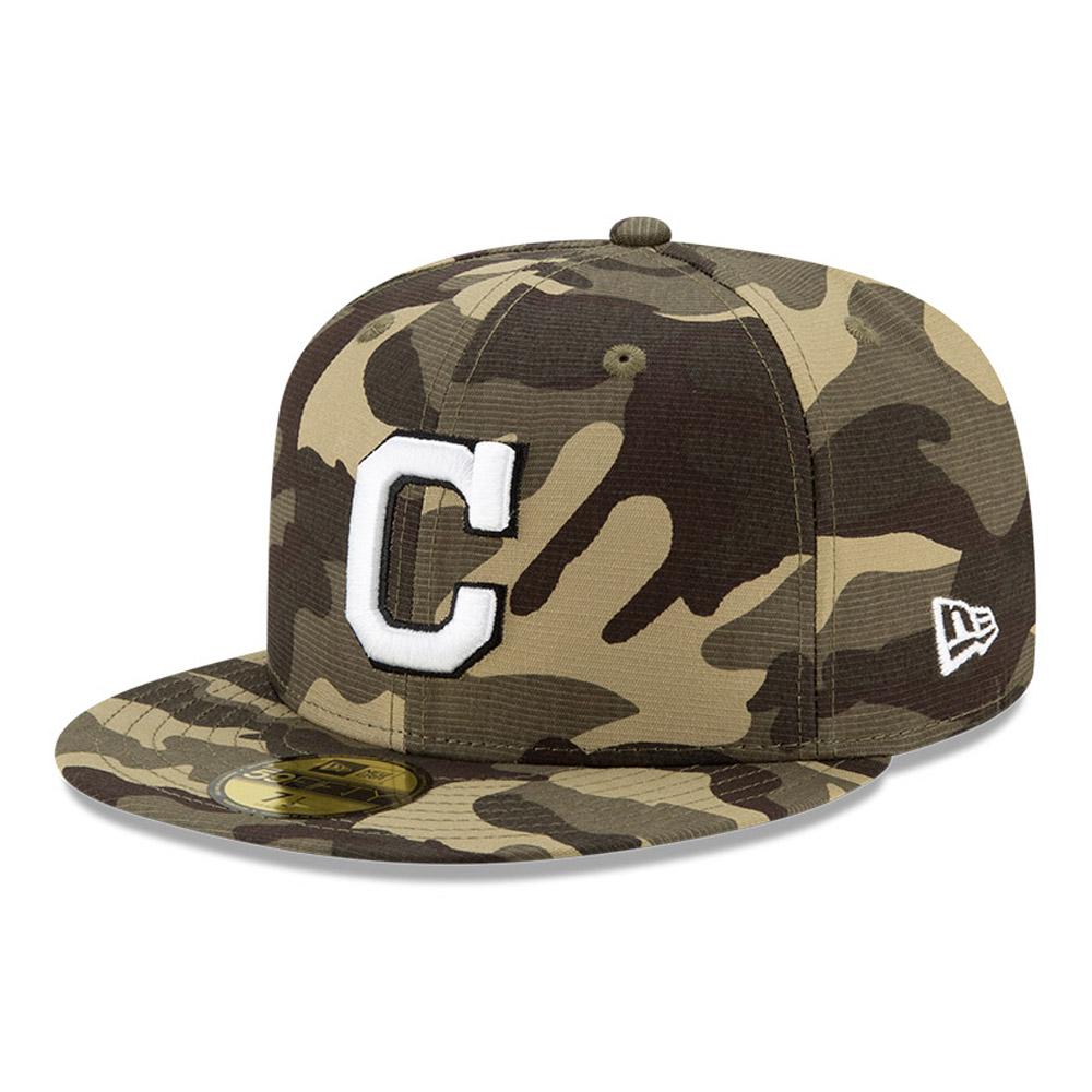 Casquette 59FIFTY MLB Armed Forces desCleveland Indians, bleu marine
