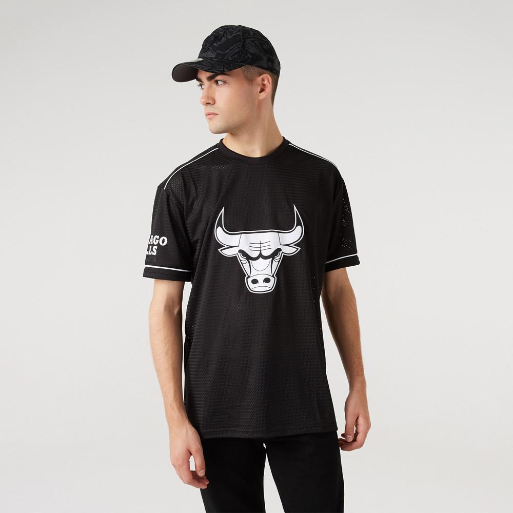Maillot Chicago Bulls Team Logo Oversized Noir