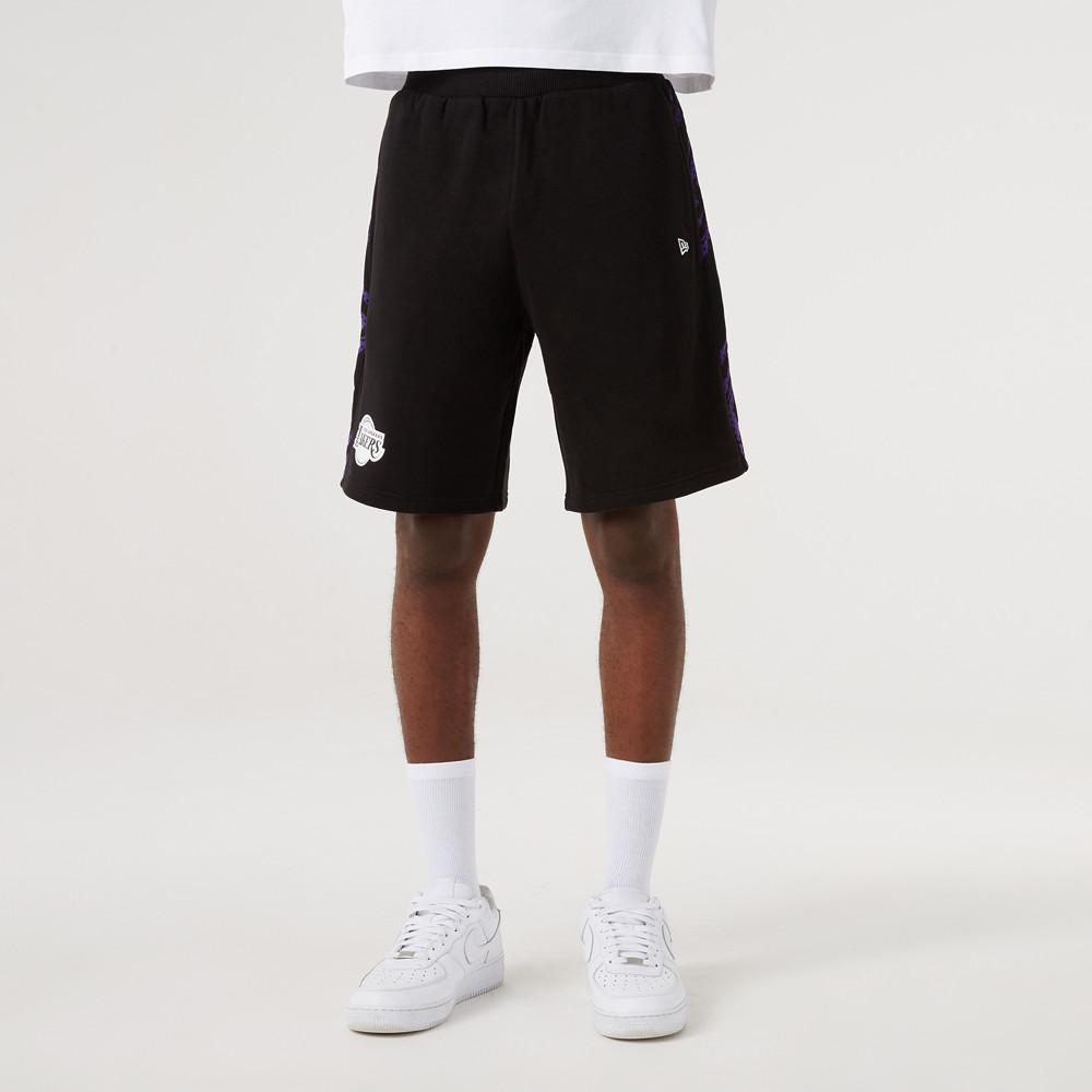 LA Lakers – Shorts in Schwarz mit Print-Feldern