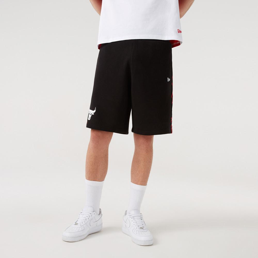 Chicago Bulls – Shorts in Schwarz mit Print-Feldern