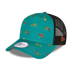 NEW ERA – Trucker – Fishing – A-Frame-Kappe in Petrol mit Print