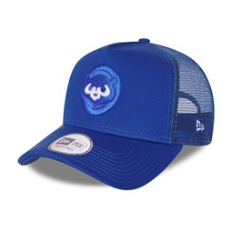 Chicago Cubs Elemental Blue A-Frame Trucker Cap