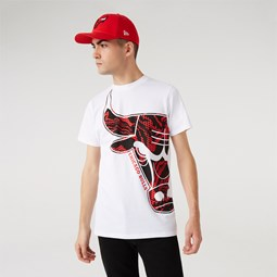 T-shirt Oil Slick Logo Infill Chicago Bulls, blanc