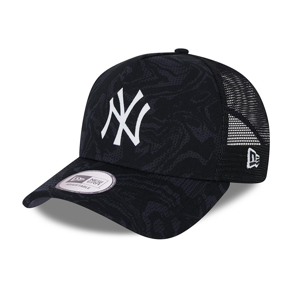 CasquetteA-FrameTruckerSeasonal CamoNew York Yankees, bleu marine