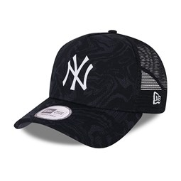 New York Yankees Seasonal Camo Navy A-Frame Trucker Cap