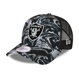 Las Vegas Raiders Seasonal Camo Black A-Frame Trucker Cap