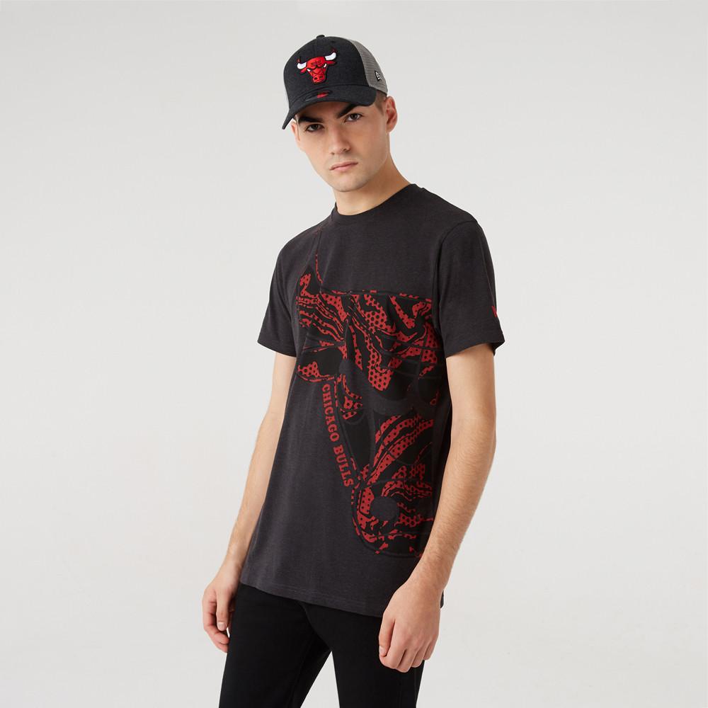Camiseta Chicago Bulls Oil Slick Logo Infill, gris