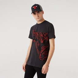 T-shirt Oil Slick Logo Infill Chicago Bulls, gris