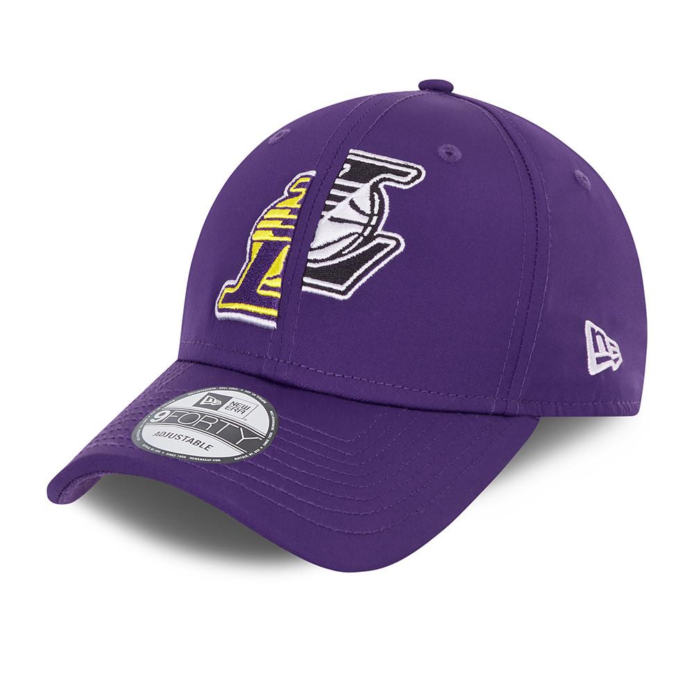 Gorra LA Lakers Half and Half 9FORTY, morado