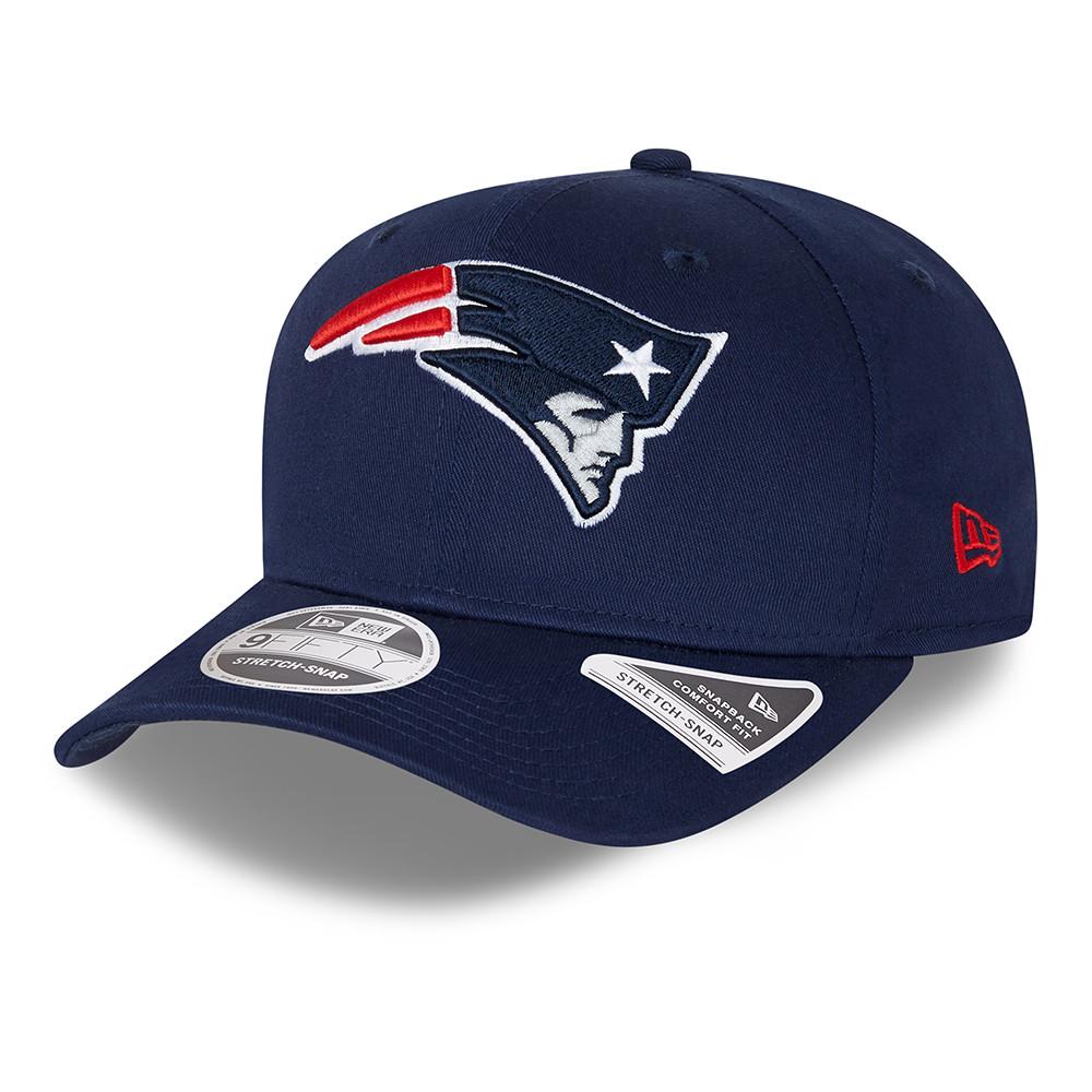 9FIFTY Stretch Snap – New England Patriots – Team Colour – Kappe in Marineblau mit Clipverschluss