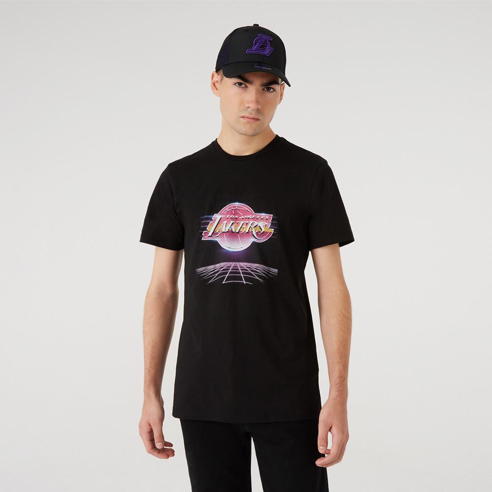 T-shirtFuturistic Graphic des LA Lakers noir