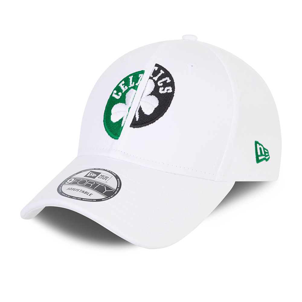 9FORTY – Boston Celtics – Half and Half – Kappe in Weiß