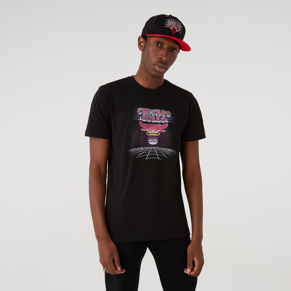T-shirt Chicago Bulls Futuristic Graphic Noir