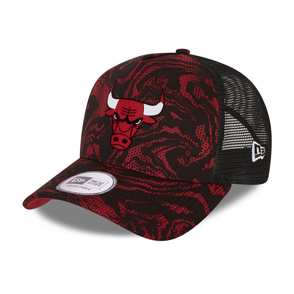 Chicago Bulls – Seasonal Camo – A-Frame-Truckerkappe in Rot