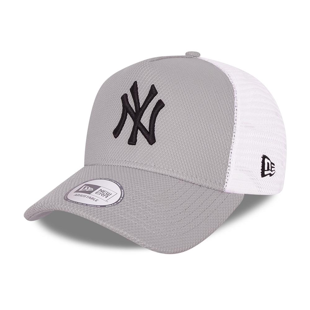 CasquetteA-FrameTruckerNew York YankeesDiamond Era, gris