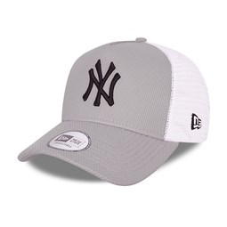 Casquette A-Frame Trucker New York Yankees Diamond Era, gris