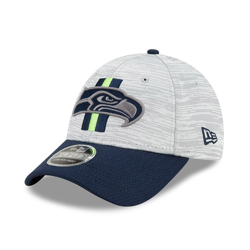 Casquette Seattle Seahawks NFL Training 9FORTY Stretch Snap Bleu marine