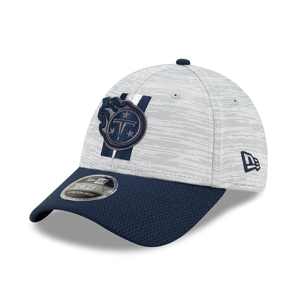 Casquette Tennessee Titans NFL Training 9FORTY Stretch Snap Bleu marine