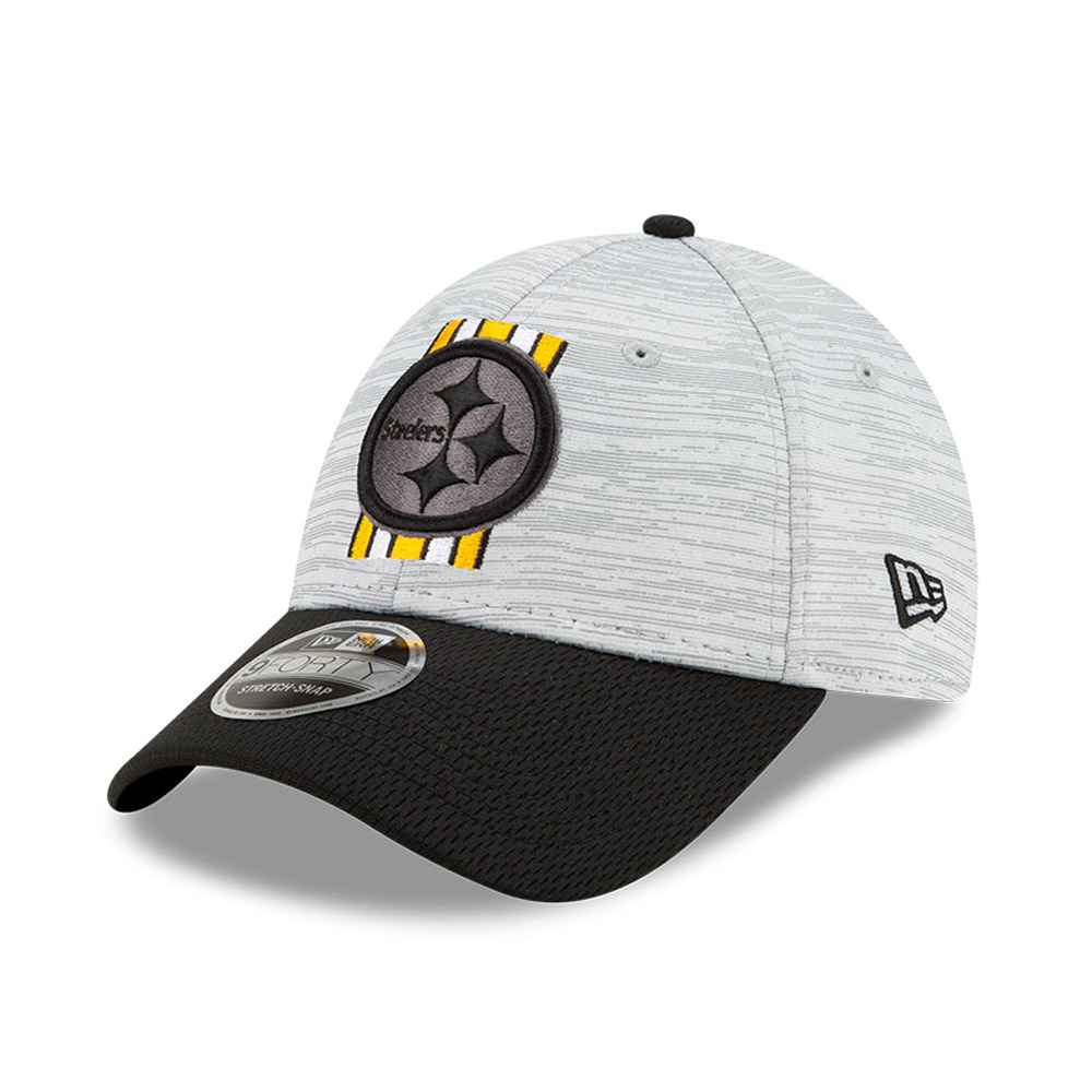 Casquette Pittsburgh Steelers NFL Training 9FORTY Stretch Snap Noir