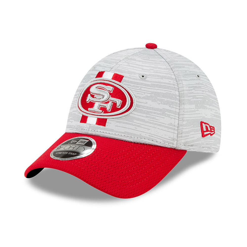 Casquette San Francisco 49ers NFL Training 9FORTY Stretch Snap Rouge