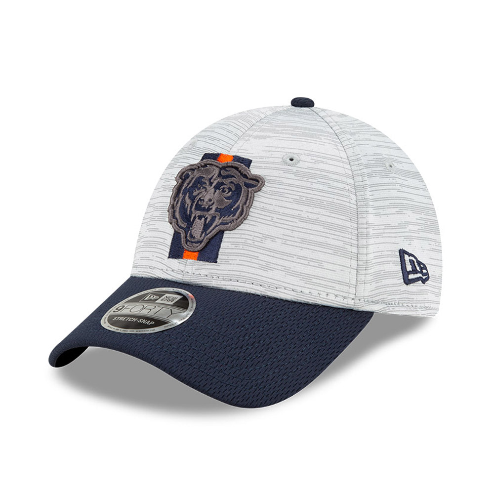 Cappellino 9FORTY Stretch Snap NFL Training Chicago Bears blu