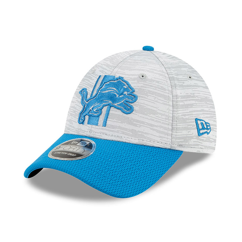 Cappellino 9FORTY Stretch Snap NFL Training Detroit Lions blu