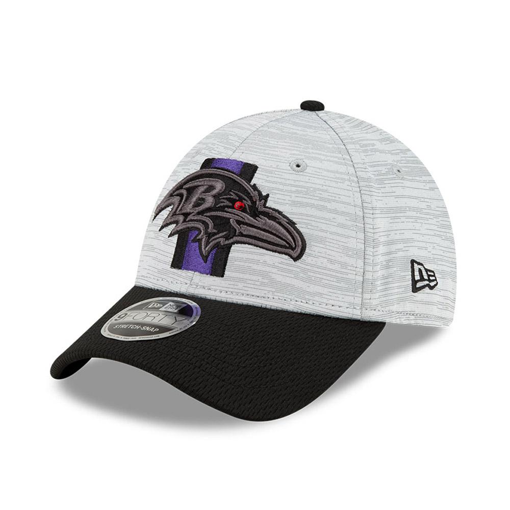 9FORTY Stretch Snap – Baltimore Ravens – NFL Training – Stretch-Kappe in Schwarz mit Clipverschluss