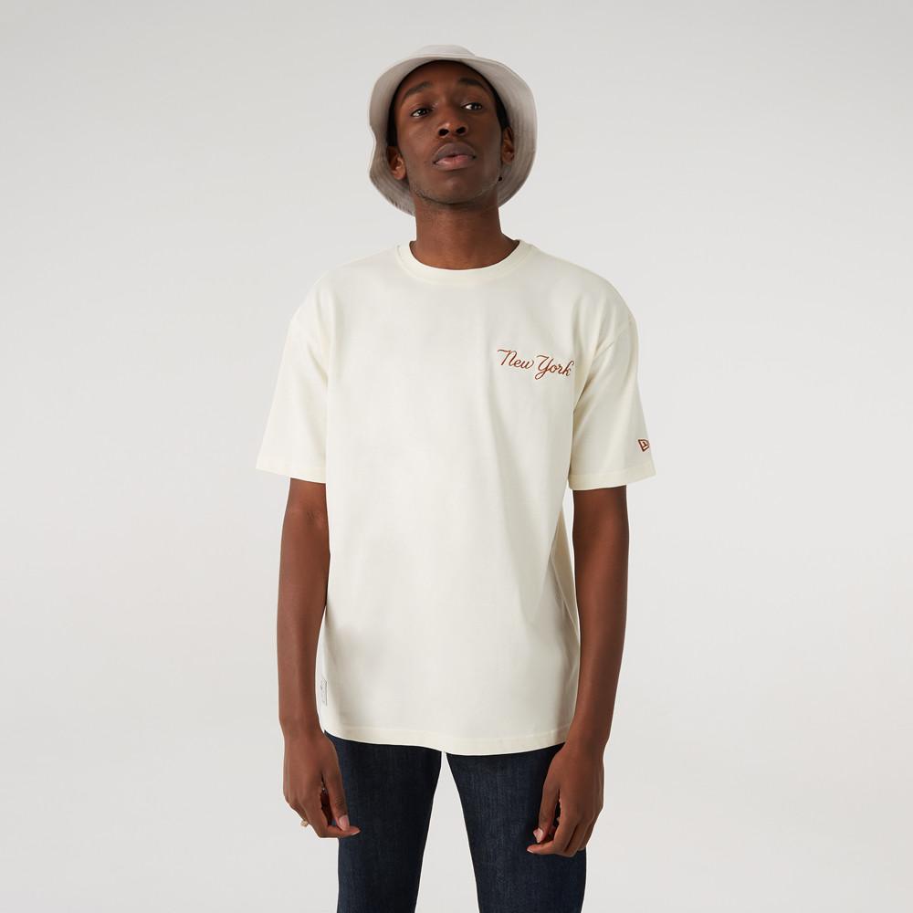 New York Yankees – T-Shirt in Übergröße in Weiß