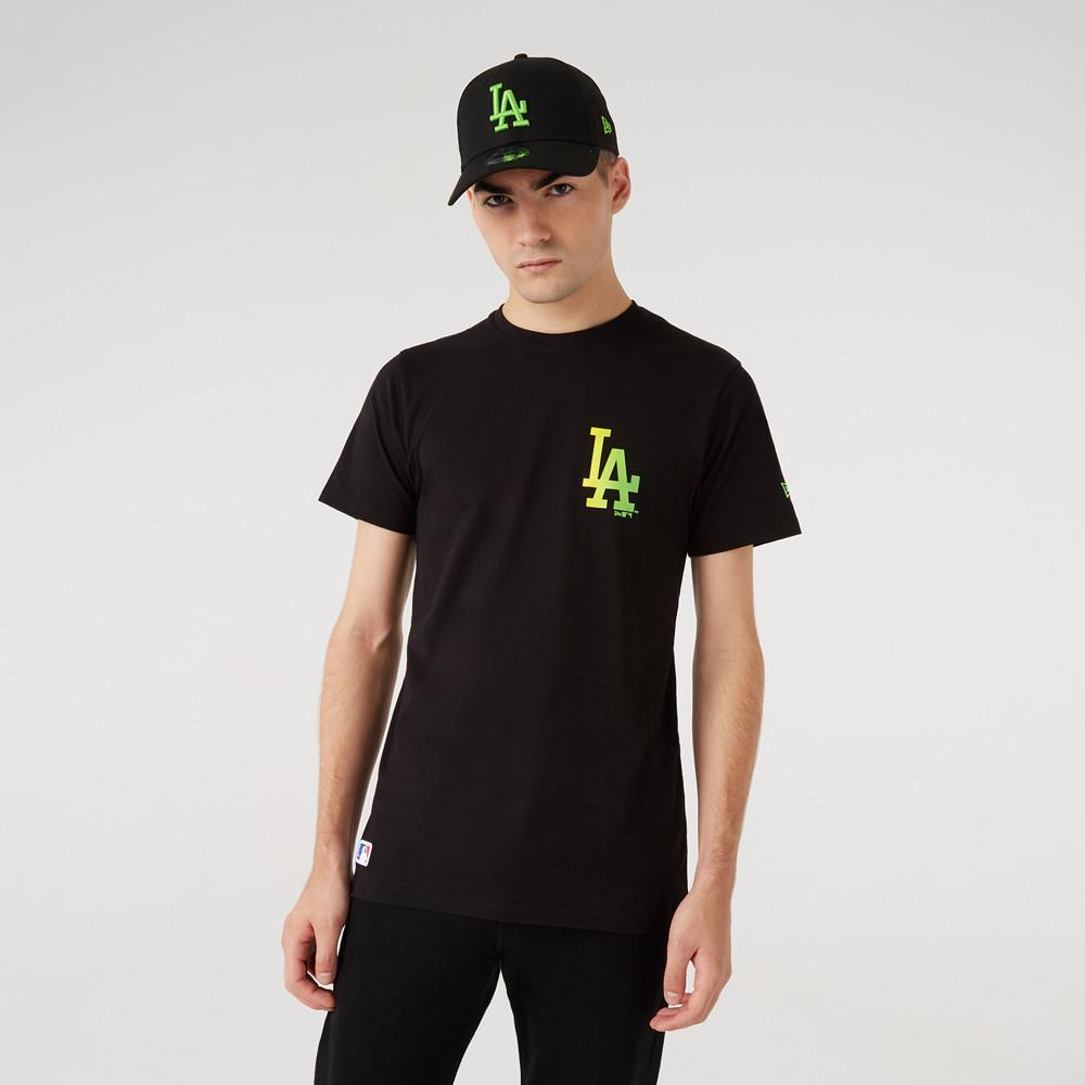 LA Dodgers – MLB Neon – T-Shirt in Schwarz