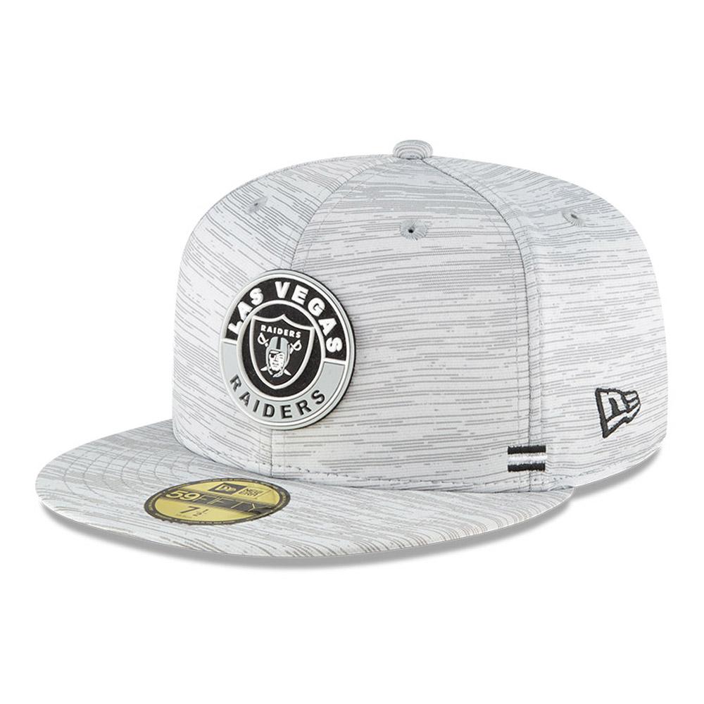 Cappellino Las Vegas Raiders Sideline 59FIFTY grigio