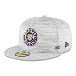 Baltimore Ravens Sideline Grey 59FIFTY Cap